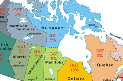 Canada Provincial Tax Map
