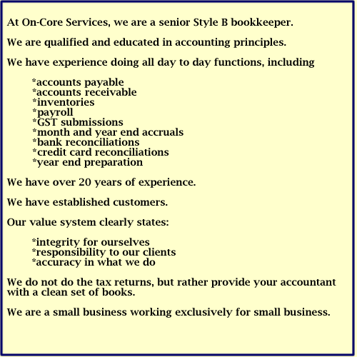 Oncourseadvertisement_0 - On-Core Bookkeeping