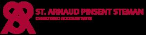 Red St. Arnaud Pinsent Steman logo on transparent background